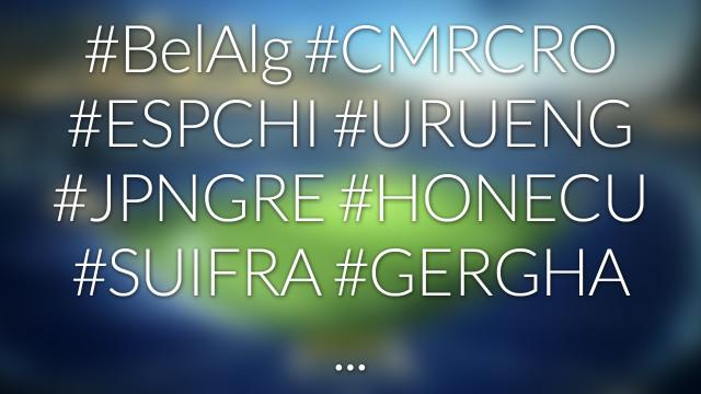 #nohashtag 030 #BELALG | #CMRCRO | #ESPCHI | #URUENG | #GERGHA | …