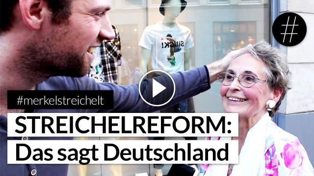 #merkelstreichelt | Streichelreform: Das sagt Deutschland